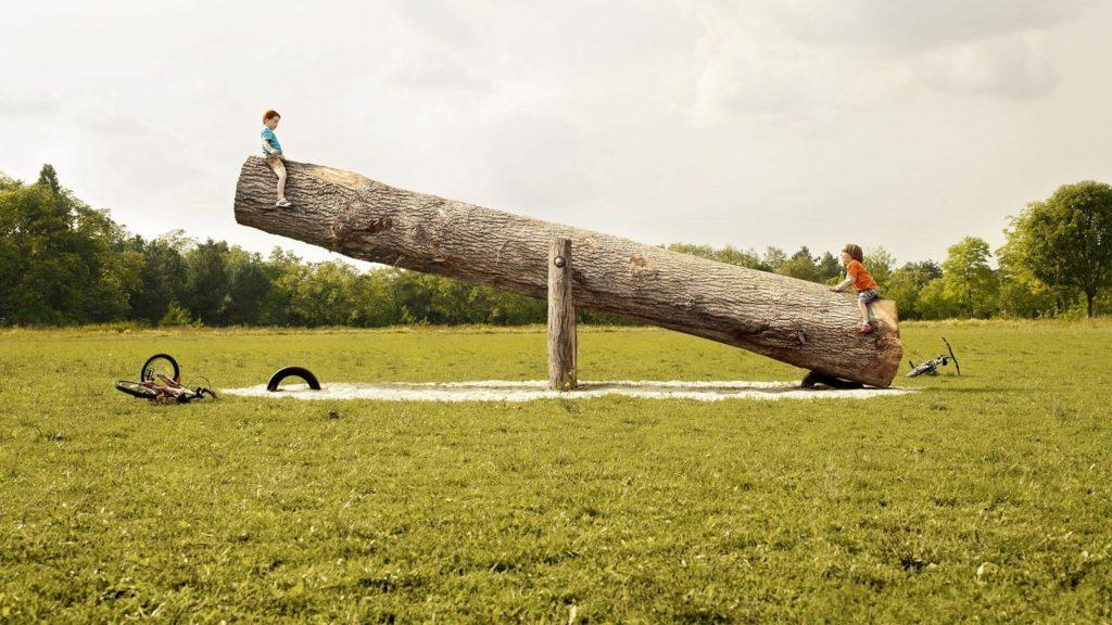 Детская качалка-балансир. Юмор.