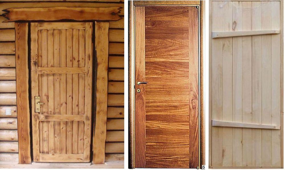 Простые двери из массива обрезной доски