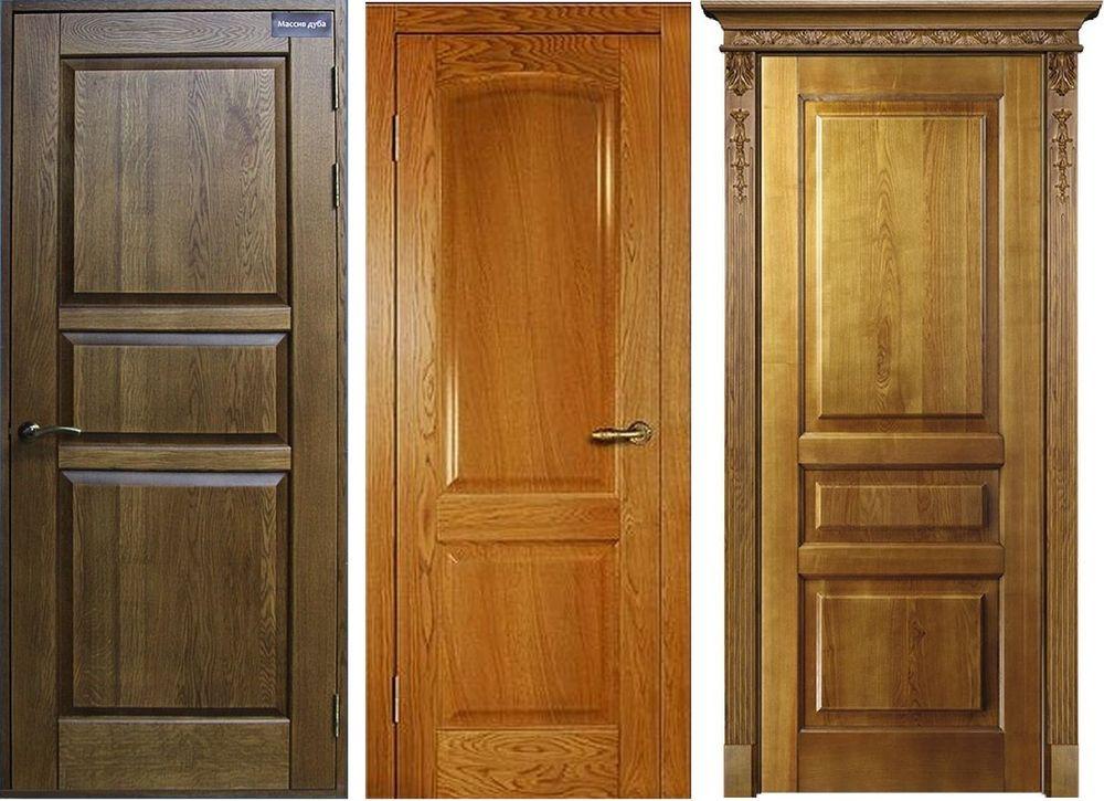 Двери из массива доски с дополнительной фрезерной обработкой