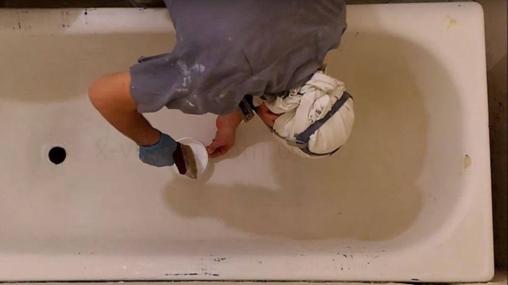 Окраска ванны