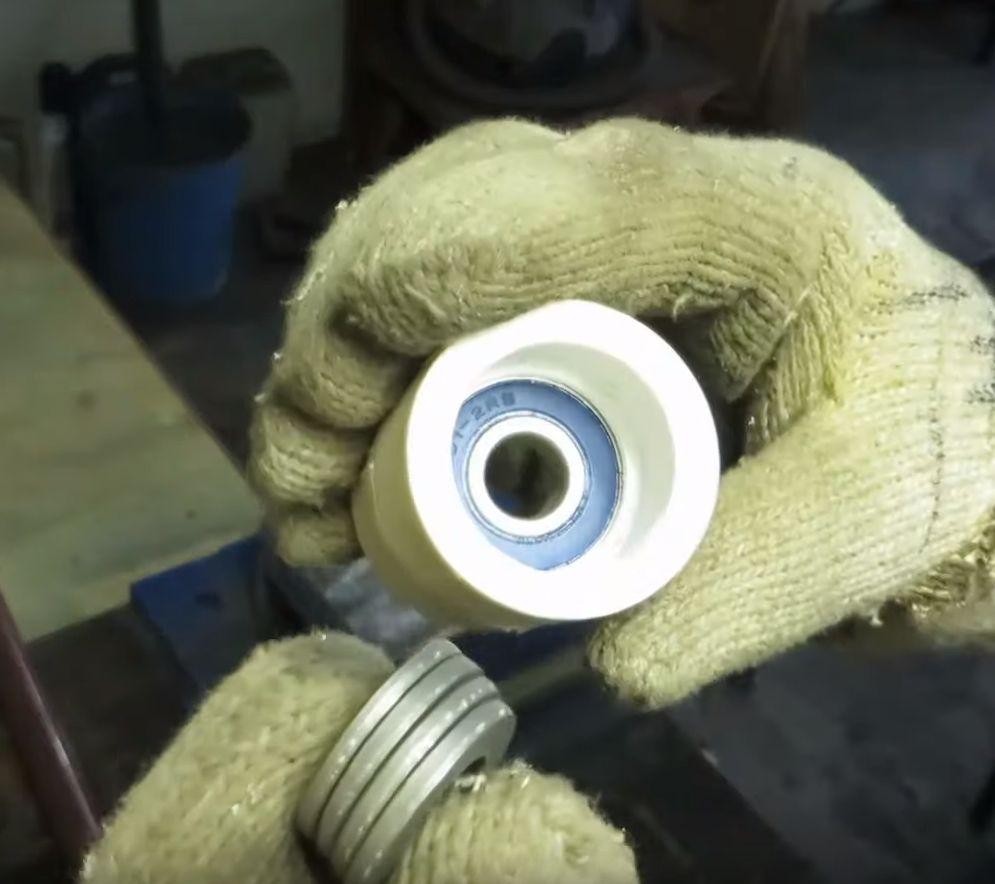 Изготовление ролика из пластиковой муфты