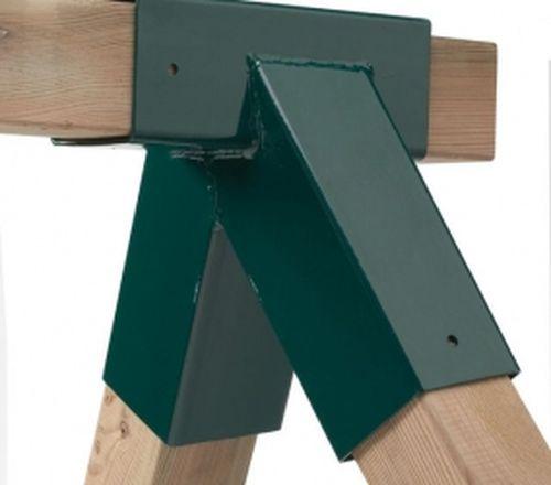 Металлический кронштейн для крепления деревянных брусьев.