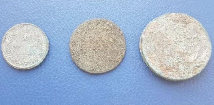Монеты до очистки.