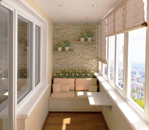 Пример декоративной отделки балкона.