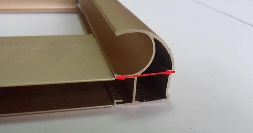 На рисунке красным цветом отмечена ширина профиля ручки.