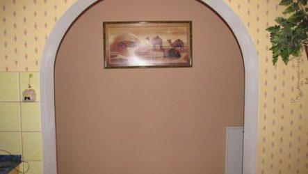 Дверная арка своими руками на монтажной пене.