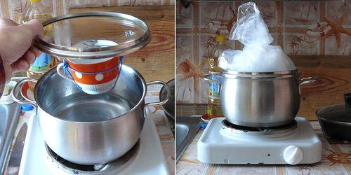 Процесс получения дистиллированной воды в домашних условиях.