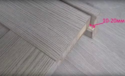 Зазор между полотном двери и полом.