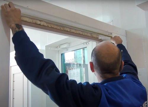 Измерение дверного проема.