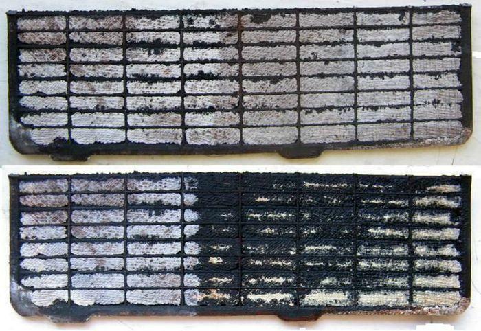 Пластины АКБ забитые кристаллами сульфата свинца.