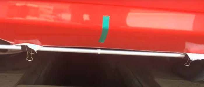Фиксация алюминиевых трубок на бампере автомобиля.