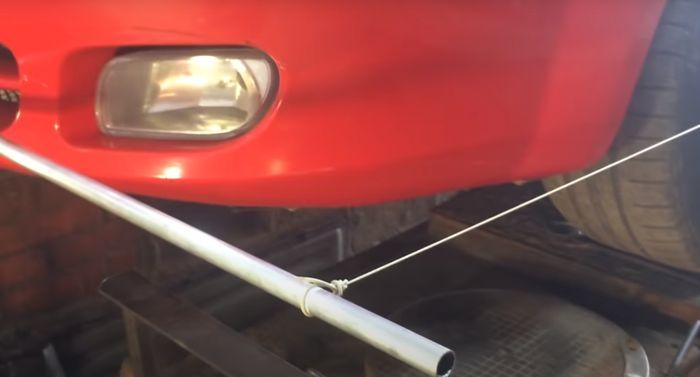 Крепление резиновых кордов к алюминиевым трубкам.