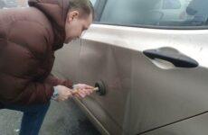 Как удалить вмятину на автомобиле своими руками