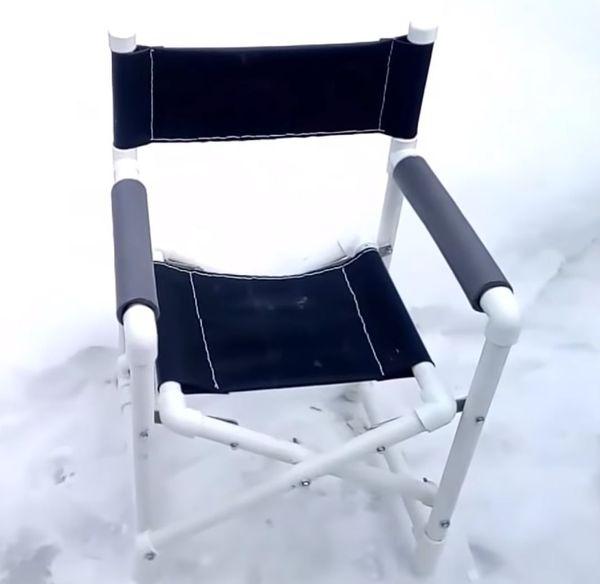 Складной самодельный стул.