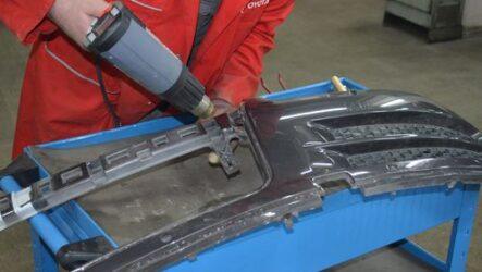 Как отремонтировать трещину на бампере авто.